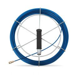 Tire fil de 30m bleu Ø3mm à embout interchangeable