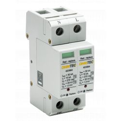 Parafoudre monophasé I-max 30kA + Déconnecteur intégré