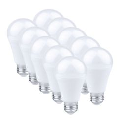 Lot de 10 ampoules E27 à LED 7W - 3000K - 630 lumens